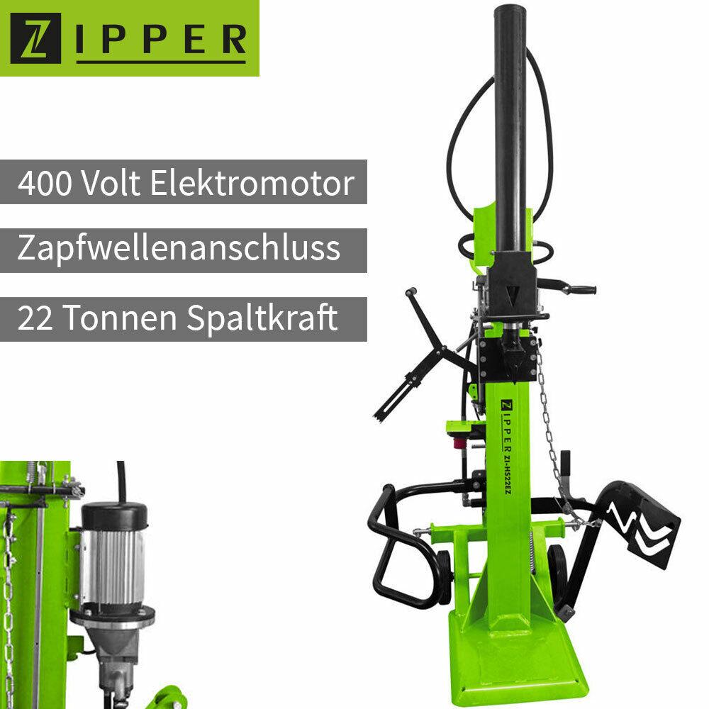 Zipper ZI-HS22EZ Holzspalter 400V Elektro Motor oder Zapfwelle Brennholz Spalter