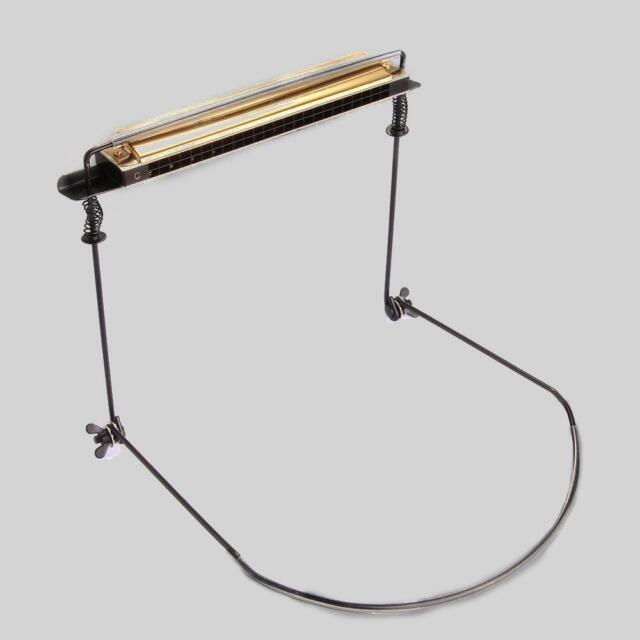 Professional Harmonica Neck Holder Harp Rack Support for 10 12 16 24 Hole