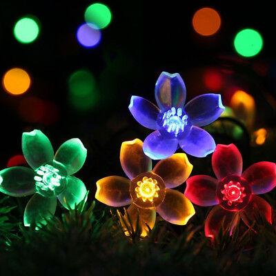 20/50LED 5M 9M Cherry Blossoms Flower String Fairy Lights Christmas Party Solar (Cherry Christmas Lights)
