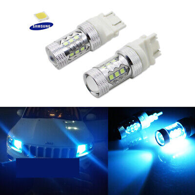 Blue Led Replacement Bulb - High Power Ice Blue LED Daytime Running Light Bulbs Fit Dodge Jeep Ford GMC etc