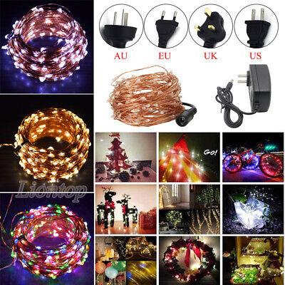 Indoor Outdoor Christmas 10-400 LED String Fairy Wedding Garland Decor -