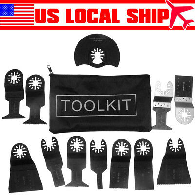 12pcs Mixed Oscillating Multi Tool Saw Blade Kit For Fein Bosch Makita Multitool