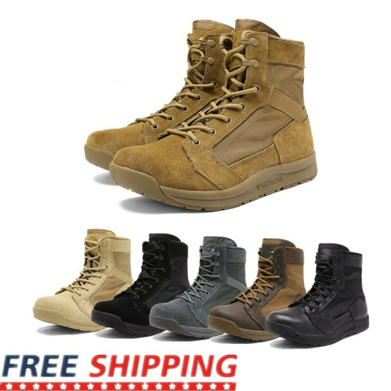 Mens Military Tactical Combat Army Boots Lightweight Hiking Work Boots Shoe Size