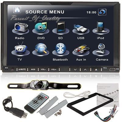 "Camera+Double 2 Din 7"" In Dash Stereo Car DVD Player Bluetooth Radio iPod SD on Rummage"