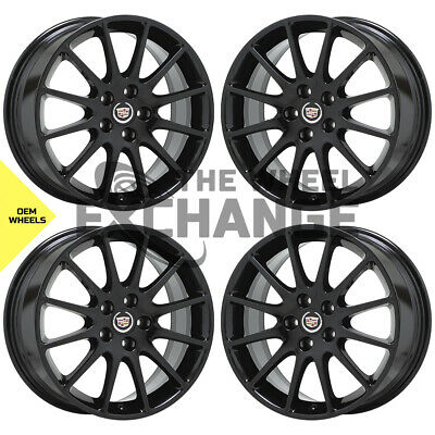 "18"" Cadillac DTS STS Black wheels rims Factory OEM GM 2005-2011 4597"