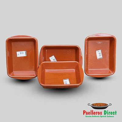 Set of 4 Spanish Terracotta Lasagne Dishes - 18cm x 14cm