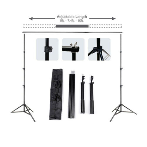 Купить Kshioe - 10Ft Pro Photography Photo Backdrop Support Stand Set Background Crossbar Kit