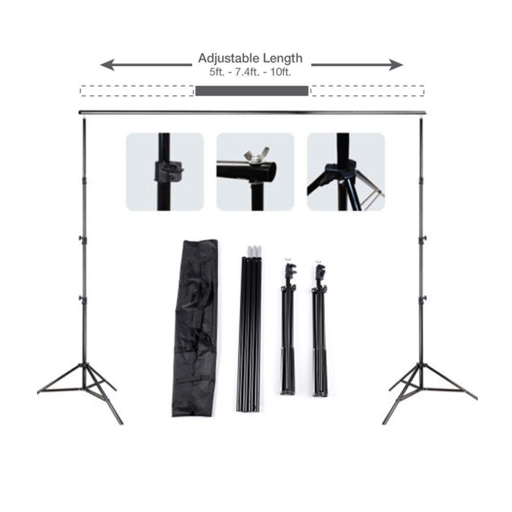 10Ft Pro Photography Photo Backdrop Support Stand Set Background Crossbar Kit -   10 - 10Ft Pro Photography Photo Backdrop Support Stand Set Background Crossbar Kit