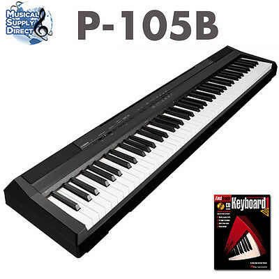 Yamaha P-105B Digital Piano Keyboard Black P105B New C-Stock + Free Lesson Book on Rummage
