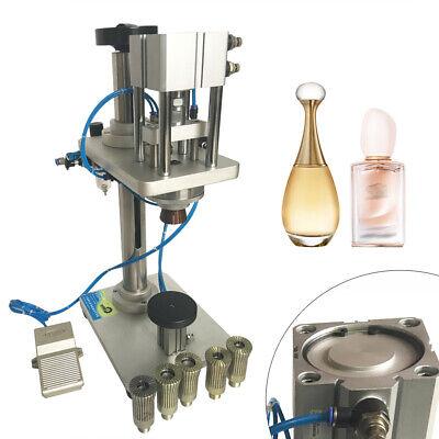 Pneumatic Perfume Crimping Capping Machine Capper Lid Cap Locking Machine 17mm