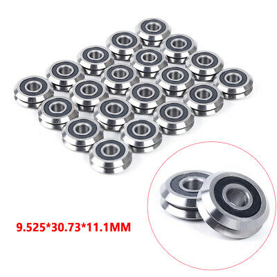 20pcs Rm2-2rs V Groove Sealed Ball Vgroove Bearing 38 9.52530.7311.1mm