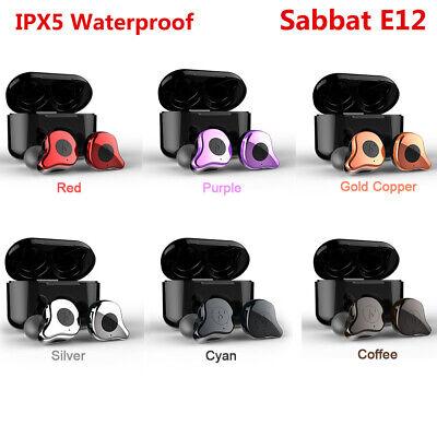 Sabbat E12 TWS Wireless Earbuds BT 5.0 Headphones In-ear w/ Charging Box