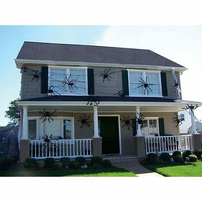 Spider Halloween Decoration Haunted House Prop Indoor Outdoor Black Giant 3 Size](Giant Outdoor Spider Decoration)