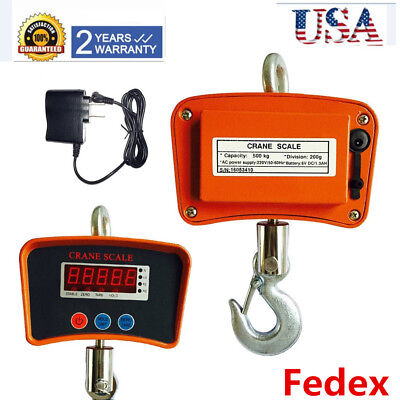 Digital Crane Scale Heavy Duty Industrial Hanging Weight Measure 500 Kg 1000lbs