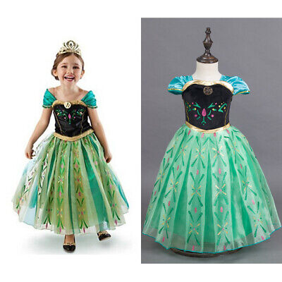 Dressup For Girls (Frozen Princess Dresses For Girls - Princess Anna Costume Dress Up Cosplay)