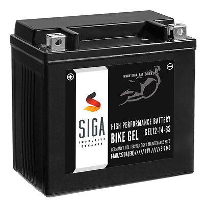SIGA YTX14-BS GEL Motorrad Batterie 14Ah 12V Motorradbatterie BMW K/R 1200 S ABS
