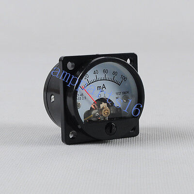 1pc Current So45 Panel Meter Dc 100ma With Back Light Gauge Black 300b 6550 Tube