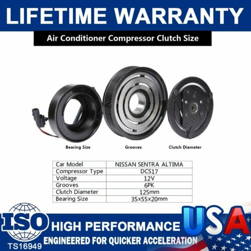 AC A//C Compressor Clutch Kit For 2007 08 09 10 11 12 Nissan Altima Sentra 2.5L