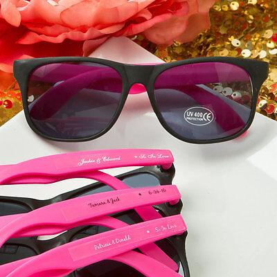 200 Personalized Wayfarer Sunglasses Favors Wedding Shower Party Event Bulk Lot