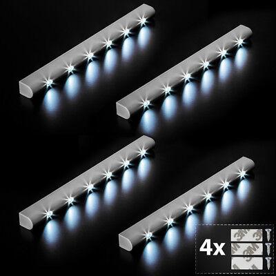 4x Barra luminosa a 6 LED con sensore di movimento per armadi luce lampada nuovo