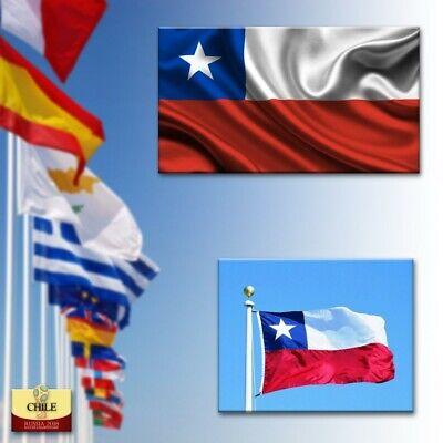 BANDERA DE CHILE 90 x 150 CM BANDERA CHILENA POLIESTER ADAPTA A...