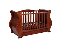Walnut Louis Tutti Bambini Baby Cot Bed with Mattress RRP £529