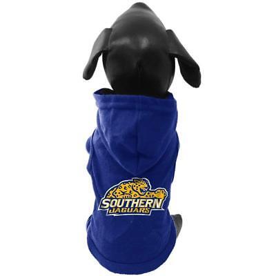 NCAA Southern Jaguars Cotton Lycra Hooded Dog Shirt Small