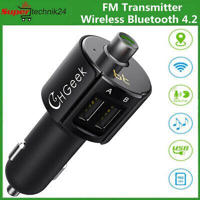 Wireless Bluetooth FM Transmitter für Auto MP3-Radio-Adapter USB-Ladegerät DE