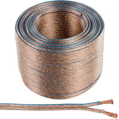 100m OFC COPPER Speaker Cable –16AWG 1.4mm²– Stranded 2 Core Figure 8 Audio Wire for sale  Shipping to Ireland