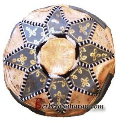 Small and Cheap Algerian leather ottoman or pouf style 2 ()