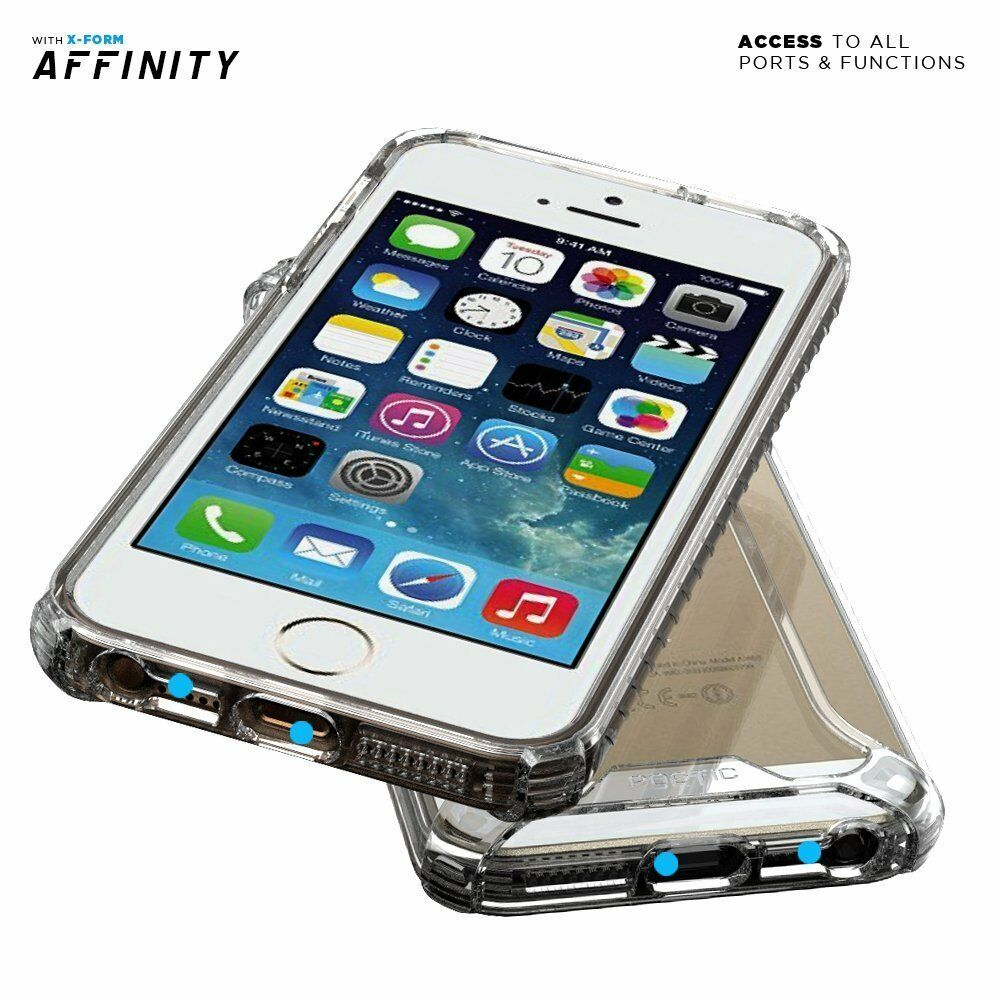 Poetic Affinity Clear Case【Dual Material】For iPhone SE