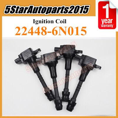 4 x HANSHIN 22448-6N015 AIC-4004G Ignition Coil for 2002-2006 Nissan Sentra 1.8L