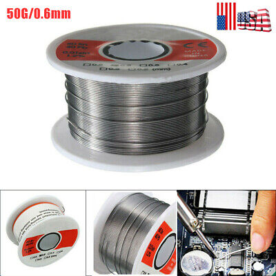 Fine Solder Wire 0.6mm 6040 2 Flux Reel Tube Tin Lead Rosin Core Soldering 50g