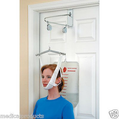 Over The Door Cervical Neck Traction Unit Kit Home Head Brace Professional Grade ()