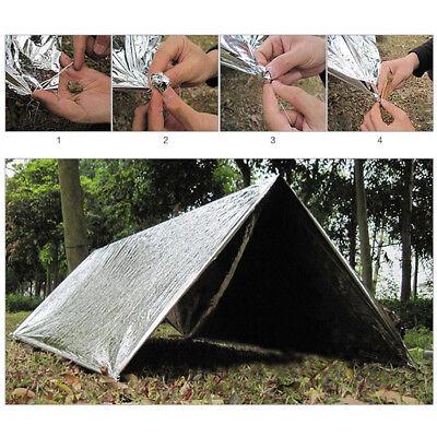 Outdoor Emergency Solar Blanket Survival Safety Insulating Mylar Thermal Heat EW