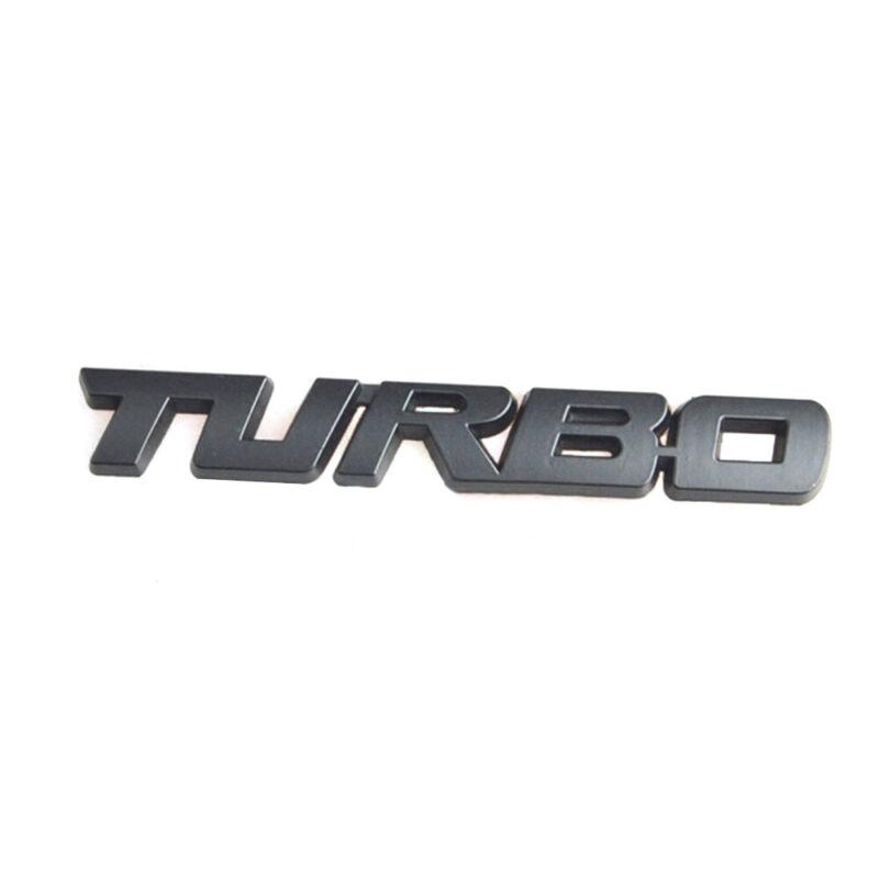 3D turbo Letter Emblem Badge Metal Chrome Sticker Decal For Car Truck Motor