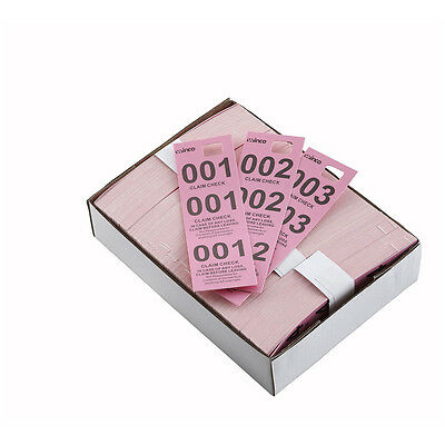 Winco Cck-5pk Pink Coat Check Tags 500-piece Box