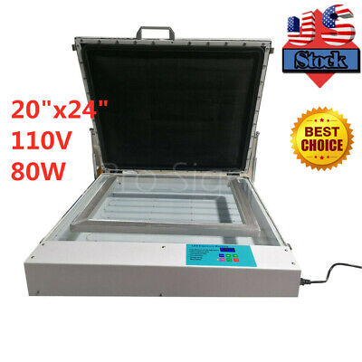 20 X 24 80w Vacuum Led Uv Exposure Unit Precise Silk Screen Printing - Us