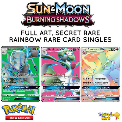 Pokemon Burning Shadows Full Art, Ultra Rare, Secret Rare Card Singles Selection