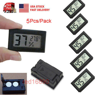 Digital Humidity Meter (US Mini 5PCS Digital LCD Temperature Humidity Meter Home Thermometer Hygrometer  )