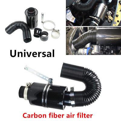Carbon fiber Air filter Cool Induction Ram Cold Air Intake System wIntake Hose