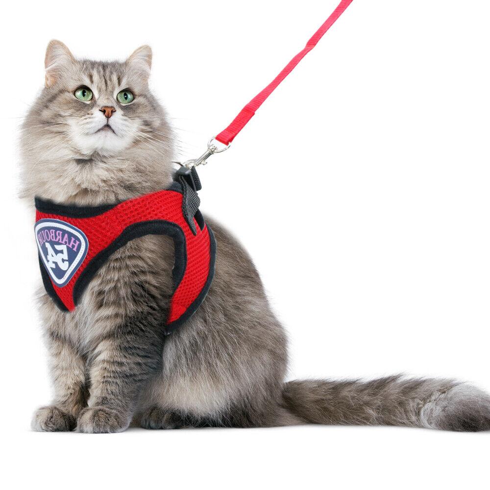 "Mesh Cat leash and Harness Set Prevent Breaking Away Cat Vest /& Leash 13.5-20.5/"""