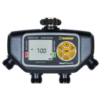 Melnor Water Timer Electric Programmable 4 Zone Hig Flow Valves Lawn Watering