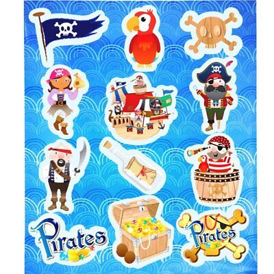 German Trendseller® - 6 x Piraten Kinder Sticker - Set | NEU |