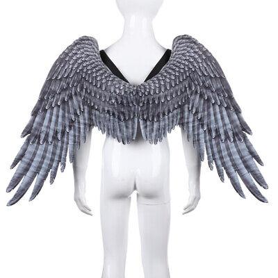 damen Cosplay feenflügel Engels Flügel Kostüm fee Vliesstoffe schwarz, - Weiße Fee Kostüm Flügel
