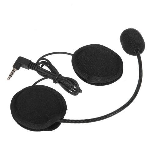 New Bluetooth Motorcycle Helmet Headset w/Mic Port for Intercom Interphone 3.5mm