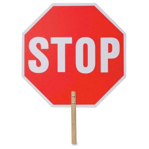 Plastic Hand Held 18 in Stop Sign