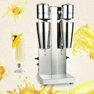 Used Commercial Electric Dual Head Milk Shake Maker Drink Mixer Machine