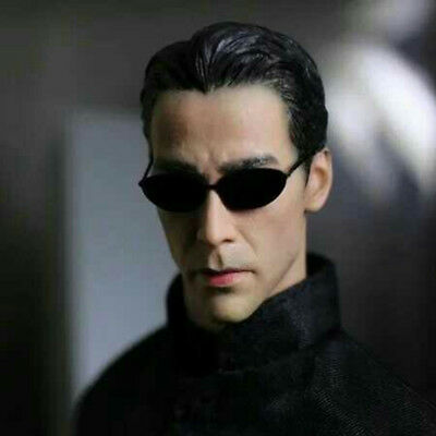 1 6 Scale The Matrix Keanu Reeves Neo Head Sculpt W Sunglasses For 12  Figures