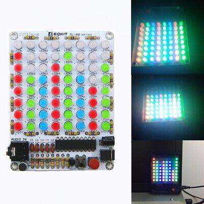 Audio Spectrum 8x8 Red Green Blue Diy Kit Level Indicator Voice Spectrum Light